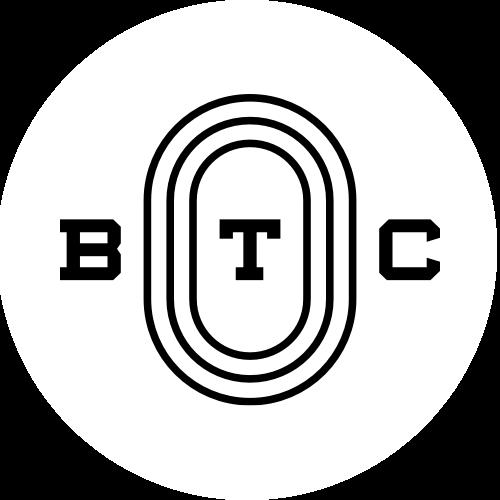 BTC Logo white round
